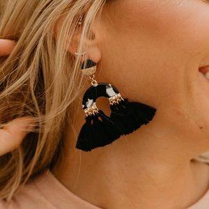 Jewelry - Black and white Fringe Earrings